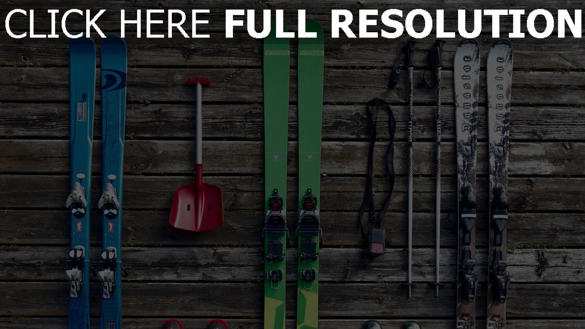 hd hintergrundbilder ski schuhe ausrüstung 1920x1080