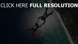 stunt fallschirmspringen fallschirmspringer