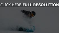 snowboarder helm brille schnee