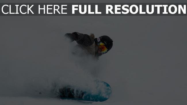 hd hintergrundbilder snowboarder helm brille schnee