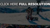 berg snowboarder schnee snowboarden
