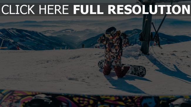 hd hintergrundbilder berg snowboarder schnee snowboarden