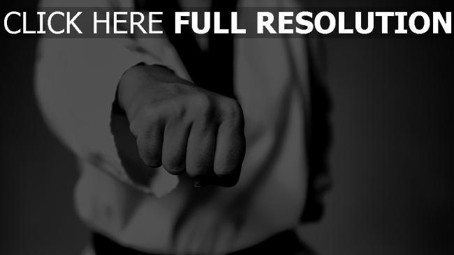 hd hintergrundbilder taekwondo kämpfer schwarz-weiß faust kampf