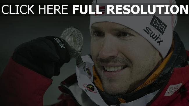 hd hintergrundbilder biathlon emil svendsen norwegen champion