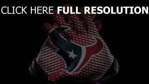 houston texans amerikanischer fußball hände logo