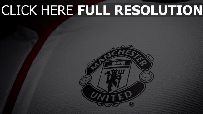 hd hintergrundbilder logo fußball manchester united