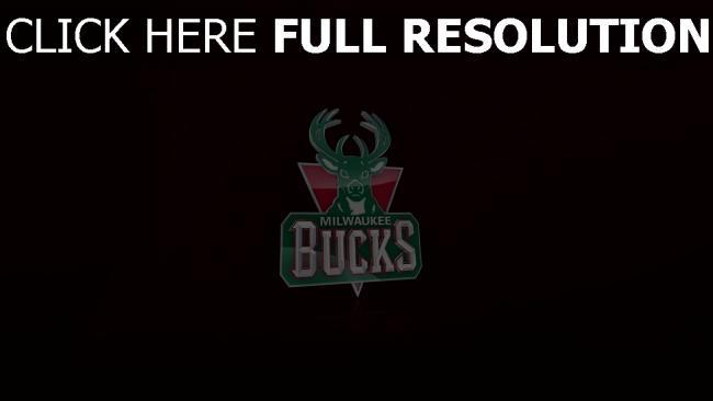 hd hintergrundbilder milwaukee bucks logo nba basketball