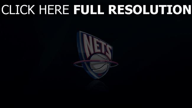 hd hintergrundbilder logo new jersey nets nba basketball