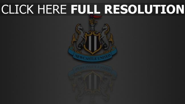 hd hintergrundbilder logo fußball reflexion newcastle united
