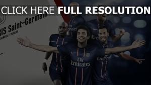 paris saint germain team fußballer