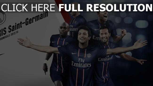 hd hintergrundbilder paris saint germain team fußballer