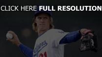 baseball zack greinke los angeles dodgers