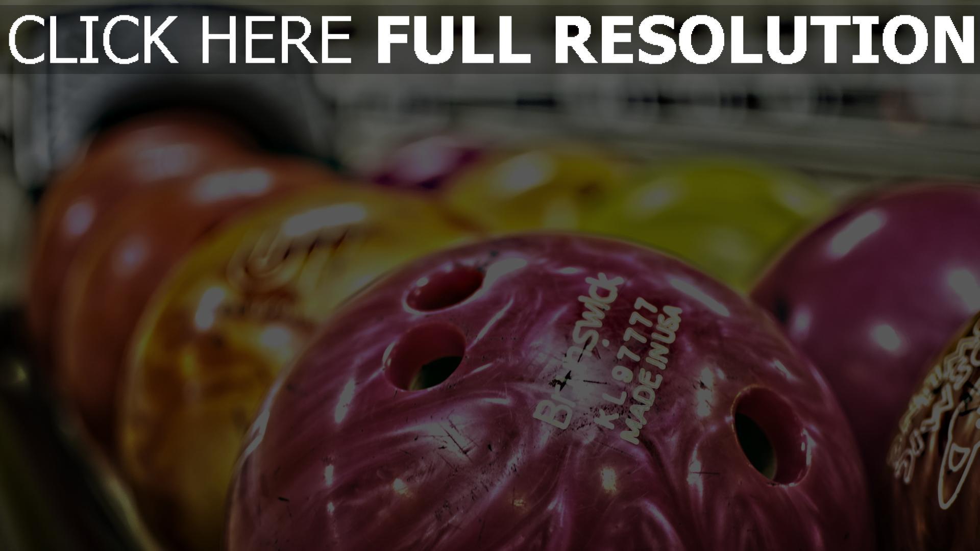 hd hintergrundbilder sport bowling ball verschwommen 1920x1080