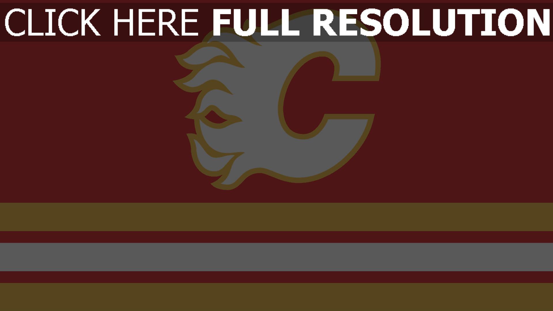 hd hintergrundbilder kanada calgary flames hockey logo 1920x1080