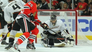 chicago blackhawks tormann hockey anaheim ducks