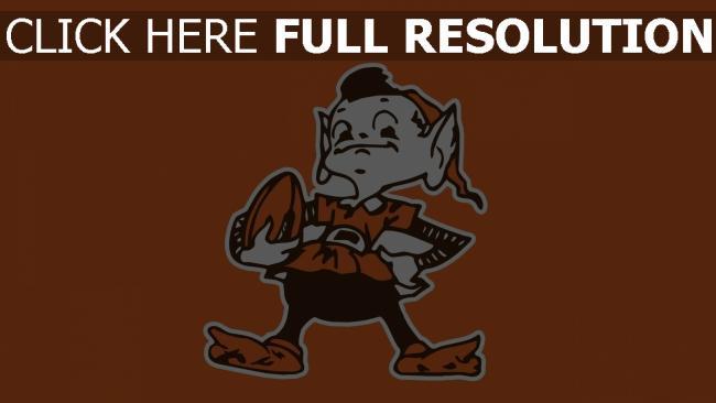 hd hintergrundbilder cleveland browns amerikanischer fußball logo