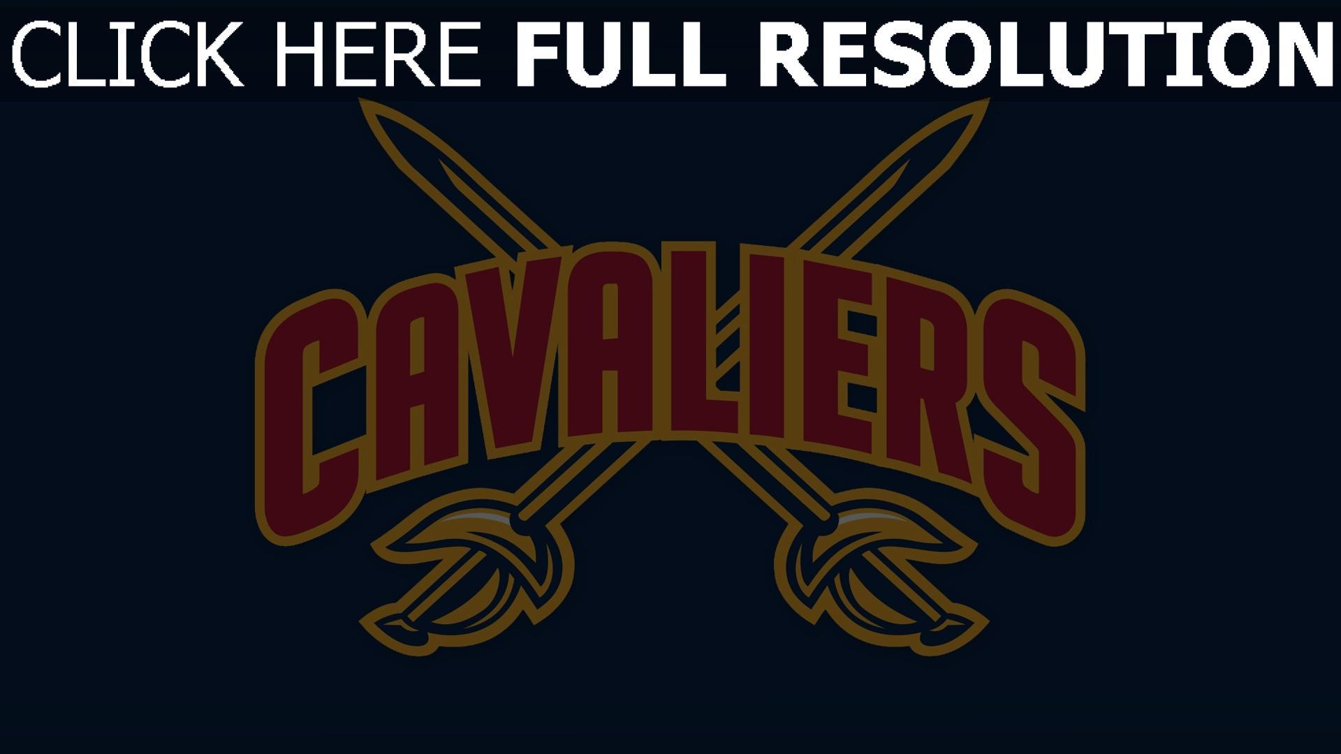 hd hintergrundbilder cleveland cavaliers logo basketball 1920x1080