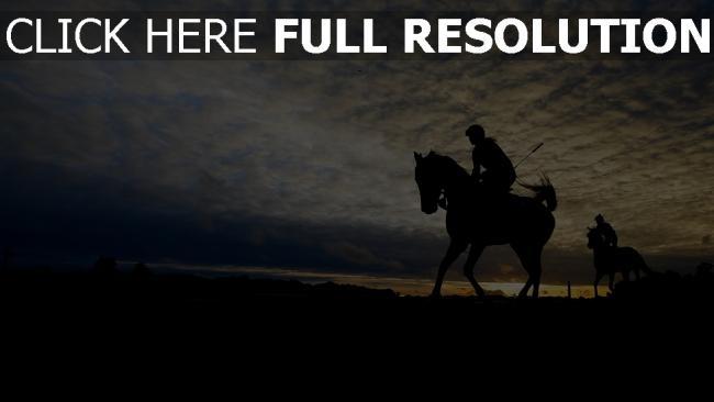 hd hintergrundbilder pferderennen silhouette himmel pferd belmont stakes