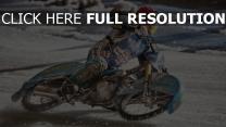 sport rennen schnee motorrad