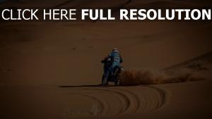 wüste sand staub motorrad