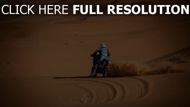 hd hintergrundbilder wüste sand staub motorrad
