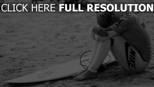 hd hintergrundbilder nike sport mädel surfer schwarz-weiß surfen