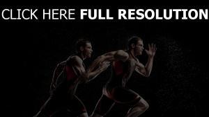 athleten form laufen spritzer sport