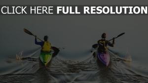 wasser bootfahren sportler sport