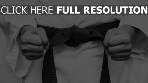 karate kimono sport faust kämpfer