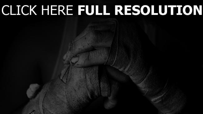 hd hintergrundbilder hand bandagen schwarz-weiß kämpfer