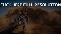 staub motorrad motorradfahrer rennen sport