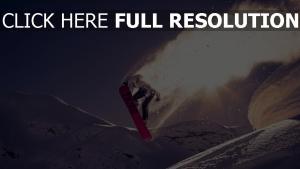 sprung snowboarden schnee trick
