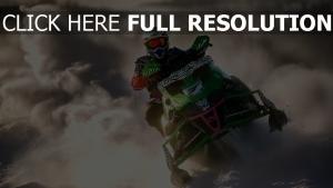 sport schnee rennen motorschlitten winter