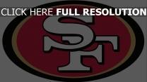 san francisco 49ers logo amerikanischer fußball