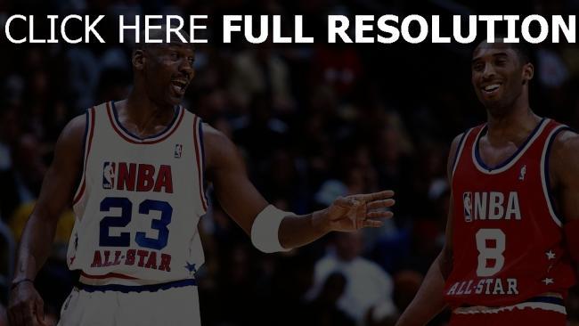 hd hintergrundbilder basketball kobe bryant michael jordan nba