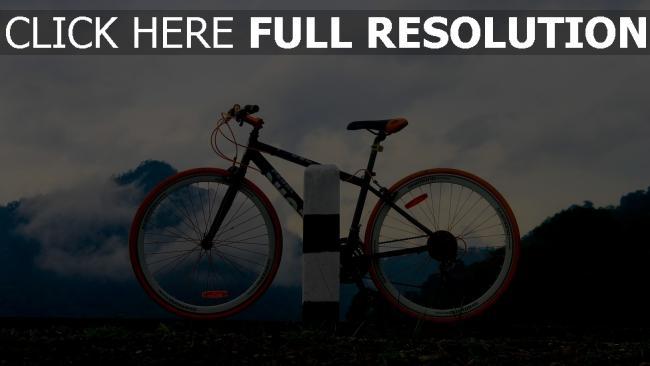 hd hintergrundbilder sport nebel berge abend fahrrad