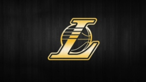 logo hintergrund los angeles lakers nba gold