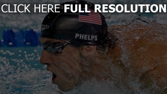 hd hintergrundbilder michael phelps the baltimore bullet athlet schwimmer