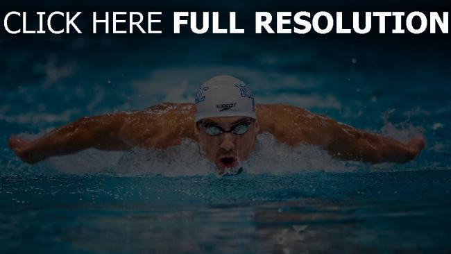 hd hintergrundbilder olympier schwimmer michael phelps