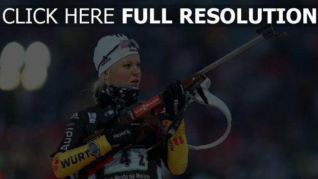 hd hintergrundbilder biathlon meister deutschland skifahrer miriam gössner