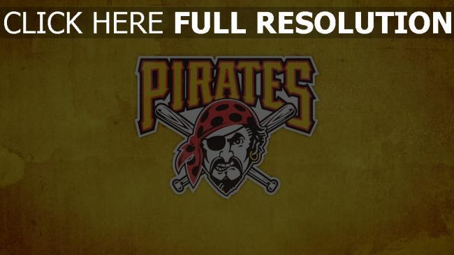 hd hintergrundbilder baseball-club logo pittsburgh pirates
