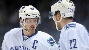 henrik sedin hockeyclub daniel sedin canucks vancouver kanada