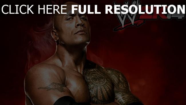 hd hintergrundbilder world wrestling entertainment ringen wwe the rock