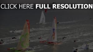 rennen regatta himmel meer sport yacht
