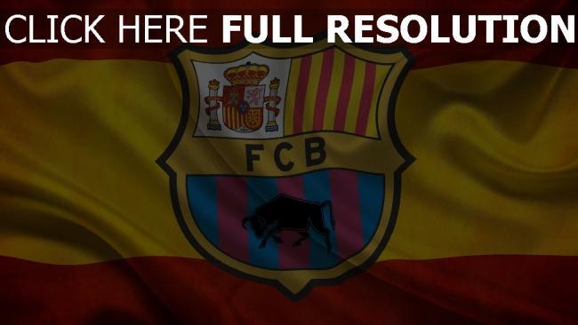 hd hintergrundbilder barca spanien fußball flagge fc barcelona
