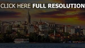 istanbul türkei böschung gebäude stadt