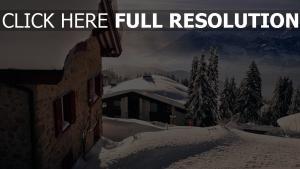 stadt schnee winter berge landschaft