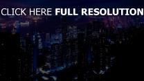nacht stadt großstadt hochhäuser lichter