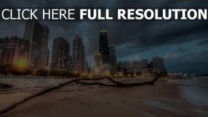 wolkenkratzer großstadt strand sand