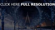 london eye nacht winter garland